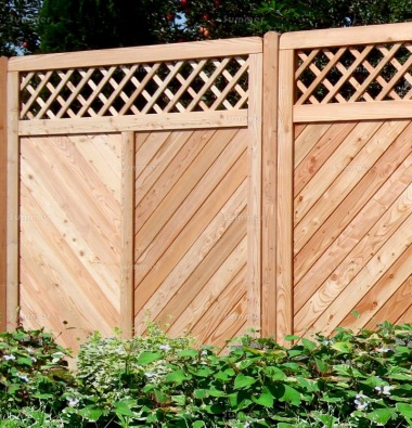 Fence Panel 544 - Larch, Planed, 18mm T and G Boards, 4x2 Frame