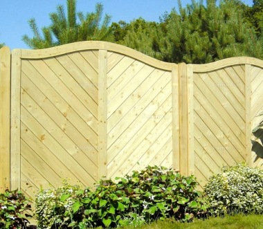 Fence Panel 570 - Planed Timber, 18mm T and G Boards, 4x2 Frame