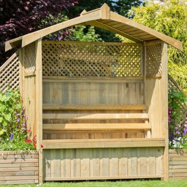 Pressure Treated Arbour 938 - Built In Storage