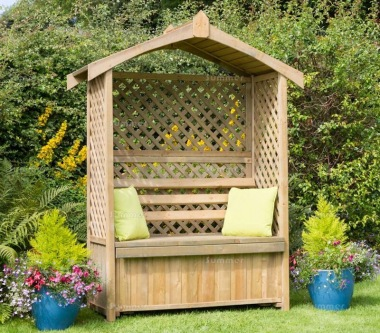 Pressure Treated Arbour 942 - Built In Storage