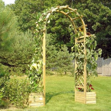 Garden Arch 25 - With Planters