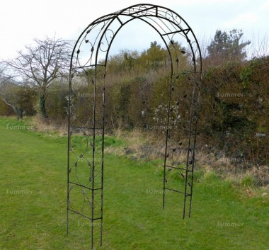 Garden Arch 080 - Powder Coated Steel Rose Arch