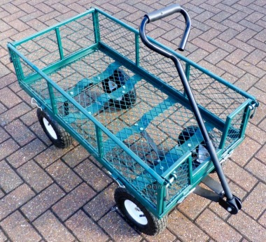Drop Side Garden Cart 222 – Platform Trolley with Pneumatic Tyres