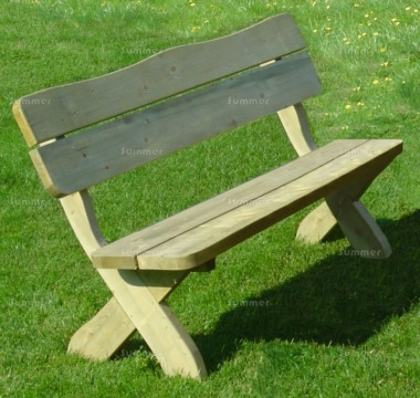 3 Seater Bench 212 - Pressure Treated, Chunky Pine