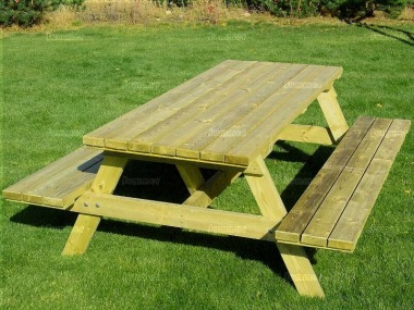 8 Seater Picnic Bench 217 - 6ft Benches, Pressure Treated