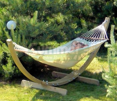 Hammock With Stand 223 - Pressure Treated, Arched Frame