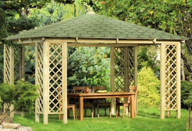 Wooden Gazebo 38 - Hipped Roof, Pressure Treated