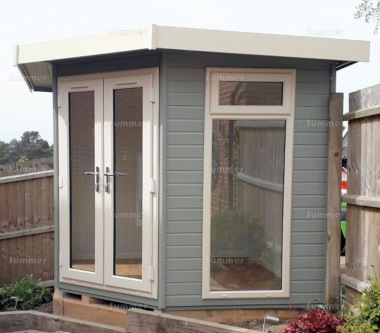 Corner Summerhouse 412 - Painted, Double Glazed, Insulated