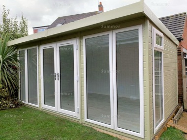 Pent Garden Office 471 - Painted, Double Glazed, Insulated