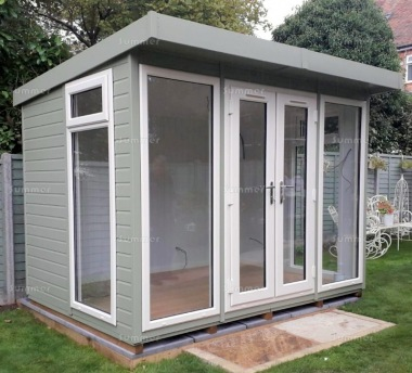 Pent Garden Office 473 - Painted, Double Glazed PVCu