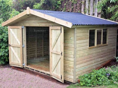 Pressure Treated Apex Shed 630 - Thicker Boards, Corrugated Roof