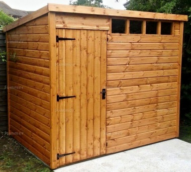 Security Pent Shed 113 - All T and G, 2x2 Framing