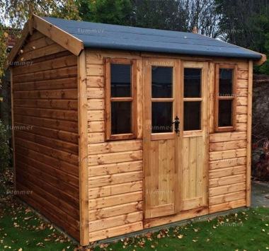 Shiplap Double Door Apex Shed 15 - Steeper Roof
