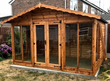 Apex Summerhouse 120 - Large Panes, Double Door