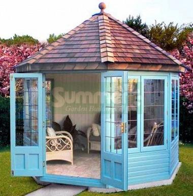 Octagonal Summerhouse 631 - Cedar, Painted, Leaded