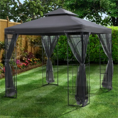 Gazebo 104 - Metal, Hipped Roof, Side Screens
