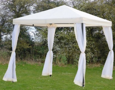 Metal Gazebo 168 - Hipped Roof, Side Screens