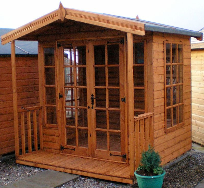 Georgian Apex Summerhouse 691 - Low Level Glazing