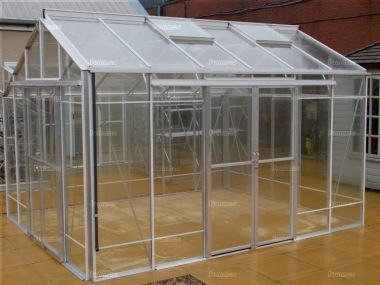 Large Aluminium Greenhouse 621 - Box Section, Double Door