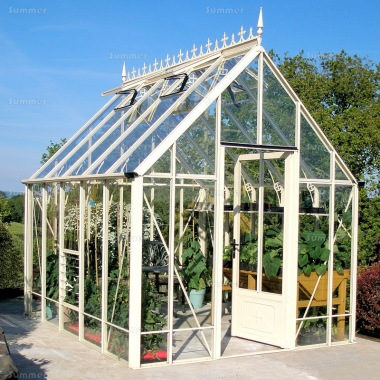 Aluminium Victorian Greenhouse 670 - Box Section, Glass To Ground