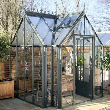 Large Aluminium Orangery 725 - Valley Roof, Box Section