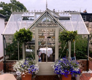 Dwarf Wall Aluminium Orangery 726 - Valley Roof, Box Section