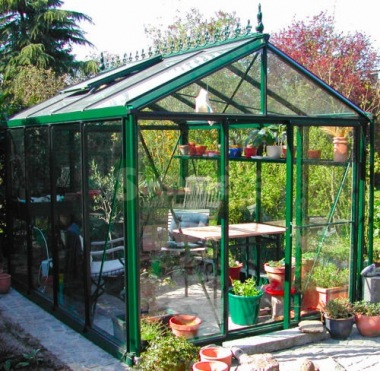 Aluminium Greenhouse 361 - Box Section, Toughened Glass