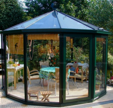 Aluminium Octagonal Greenhouse 48 - Box Section