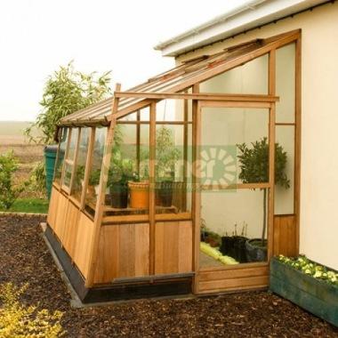 Cedar Lean To Greenhouse 84 Toughened Glass