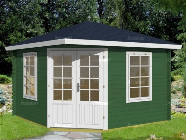 Corner Log Cabin 319 - 40mm, Plain or Georgian