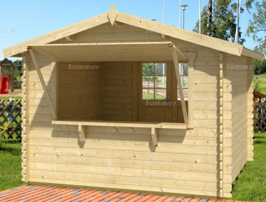 Double Door 28mm Apex Log Cabin 338 - Serving Hatch
