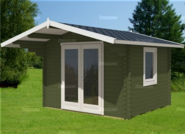 Apex Double Door Log Cabin 440 - Bespoke, Double Glazed