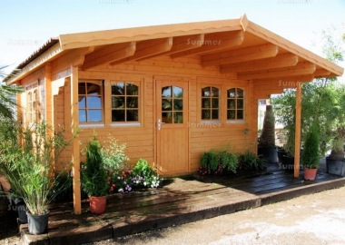 Apex Single Door Log Cabin 463 - Double Glazed