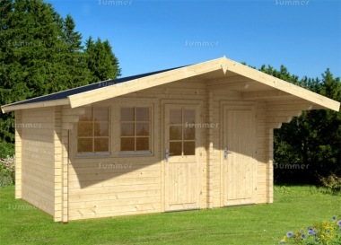 Two Room Apex Log Cabin 465 - Double Glazed