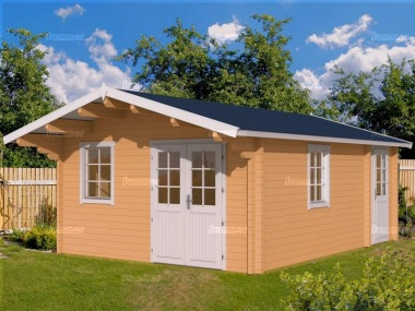 Three Room Apex Log Cabin 490 - Double Glazed