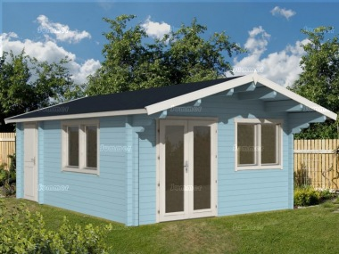 Three Room Apex Log Cabin 491 - Large Panes, Double Glazed