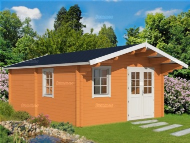 Three Room Apex Log Cabin 494 - Double Glazed