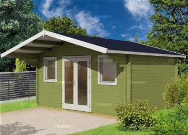 Apex Double Door Log Cabin 495 - Bespoke, Double Glazed