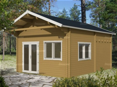 Three Room Apex Log Cabin 505 - Large Panes, Double Glazed, Loft Area