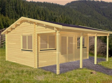 Side Door Apex Log Cabin 577 - Double Glazed