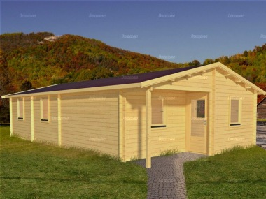 Six Room Apex Log Cabin 579 - Double Glazed
