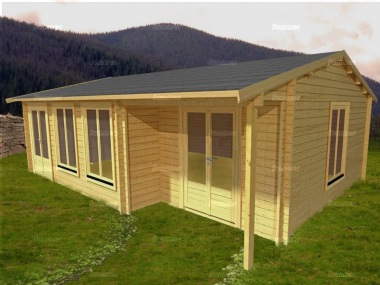 Side Door Apex Log Cabin 581 - Double Glazed