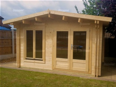Apex 140mm Twinskin Log Cabin 585 - Double Glazed, Large Panes