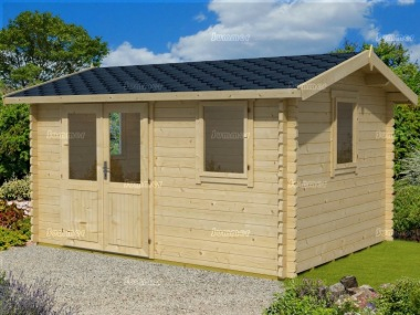 Side Door Apex 45mm Log Cabin 281 - Double Glazed