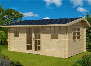 Side Door Apex Log Cabin 282 - Double Glazed
