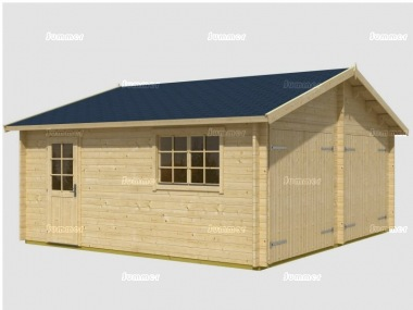 Wooden Log Double Garage 407 - Apex, Personnel Door