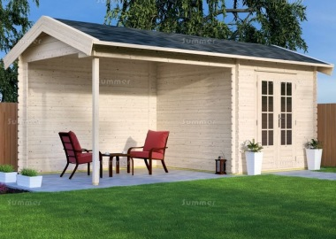 Wooden Apex Gazebo 698 - With Integral Summerhouse