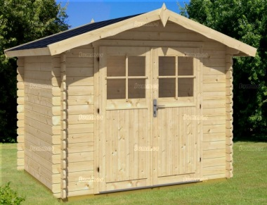 Log Cabin Shed 422 - Apex Roof, 28mm Logs