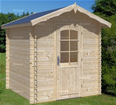 Log Cabin Shed 423 - Apex Roof, 28mm Logs