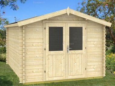 Log Cabin Shed 414 - 28mm Logs, Plain or Georgian